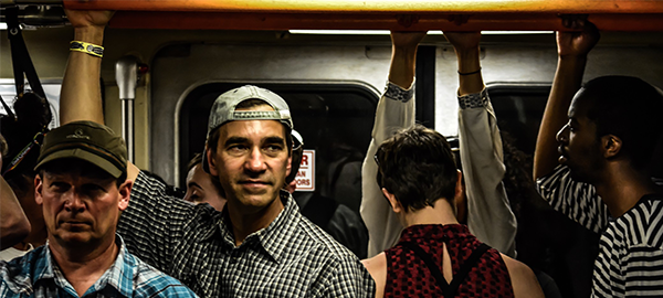 People on a crowded subway